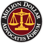 Multi-Million Dollar Advocates Badge for John D. Pallante